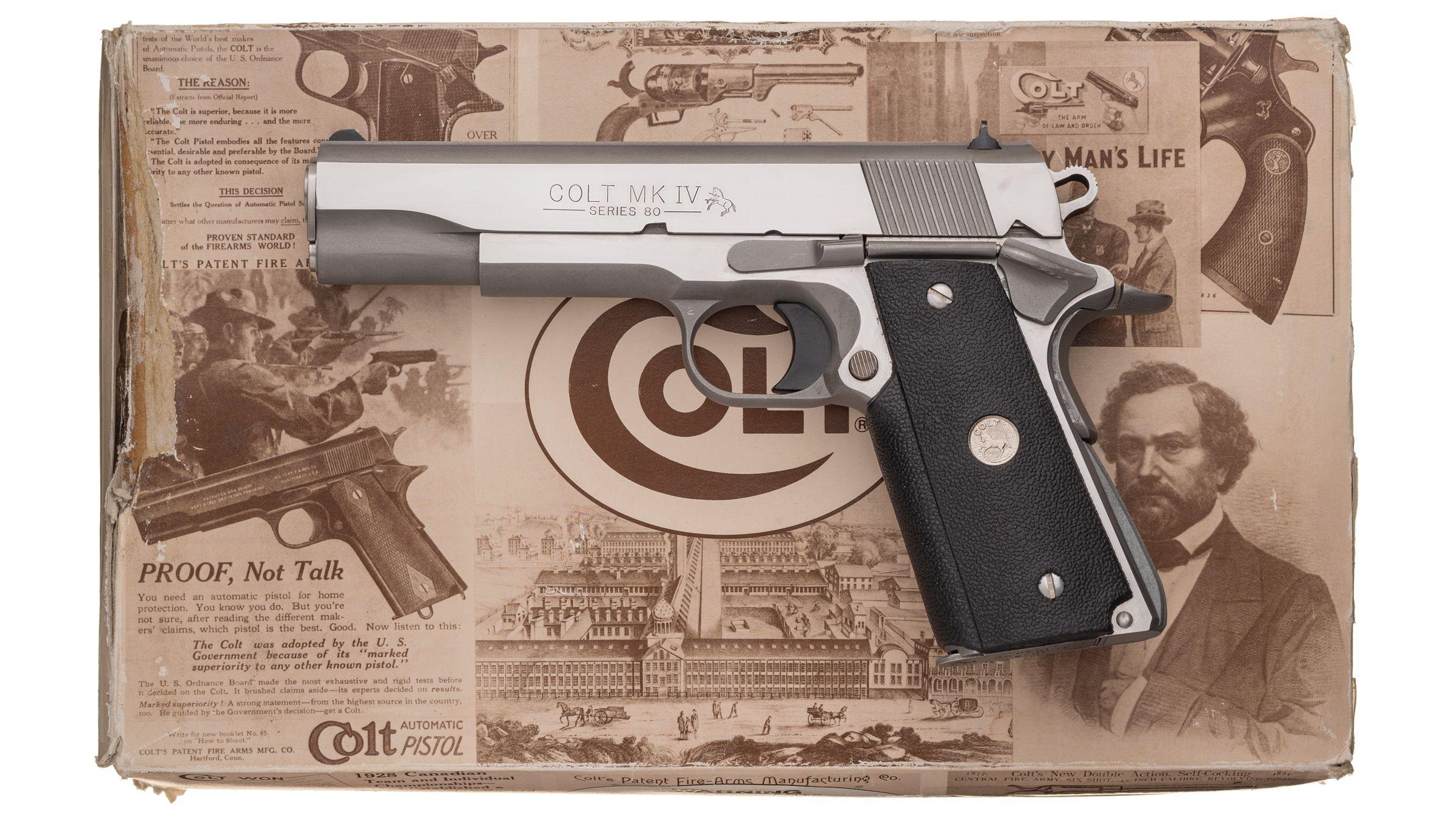 Colt Mk IV Series 80 Government Model Semi-Automatic Pistol
